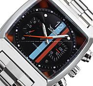 Jaragar Herrn Armbanduhren für den Alltag Modeuhr Kleideruhr Armbanduhr Automatikaufzug Edelstahl Band Freizeit Cool