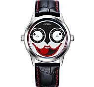 Недорогие -SINOBI Муж. Наручные часы Модные часы Спортивные часы Японский Кварцевый Крупный циферблат Ударопрочный Кожа Группа На каждый день