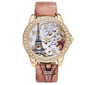 Недорогие -Жен. Нарядные часы Наручные часы Имитационная Четырехугольник Часы Китайский Кварцевый Имитация Алмазный PU Группа Роскошь Цветы Винтаж