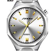 Недорогие -Муж. Наручные часы Японский Кварцевый Защита от влаги Крупный циферблат Алюминиевый сплав Группа Роскошь минималист Серебристый металл