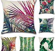 набор из 6 моды тропических тропических лесов завод печати наволочки случае ботанические подушки крышка 45 * 45 см диван подушка покрытие