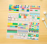 6 шт / набор pvc дневник стикер телефон стикер записки наклейки