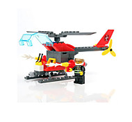 Building Blocks Fire Engine Vehicle Helicopter Toys Military Boys 83 Pieces