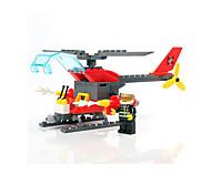Недорогие -Конструкторы Пожарная машина Вертолет Игрушки Пожарные машины Армия Мальчики 83 Куски