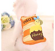 cheap -Dog Shirt / T-Shirt Dog Clothes Stripe Orange Cotton Fabric Costume For Pets Men's Women's Casual/Daily