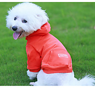 cheap -Dog Hoodie Dog Clothes New Year Birthday Casual/Daily Fashion Black Orange Green Costume For Pets