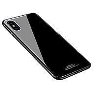 cheap -Case For Apple iPhone X iPhone 8 Shockproof Ultra-thin Back Cover Solid Color Hard Tempered Glass for iPhone X iPhone 8 Plus iPhone 8