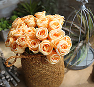 cheap -1 Branch Others Real touch Roses Tabletop Flower Artificial Flowers