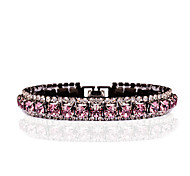Women's Chain Bracelet Tennis Bracelet Synthetic Amethyst Rhinestone Adorable Elegant Cubic Zirconia Rhinestone Circle Jewelry For