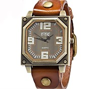 cheap -Men's Casual Watch Fashion Watch Unique Creative Watch Chinese Quartz Chronograph Water Resistant / Water Proof Genuine Leather Band