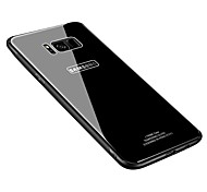 cheap -Case For Samsung Galaxy S8 Plus S8 Ultra-thin Back Cover Solid Color Hard Tempered Glass for S8 Plus S8