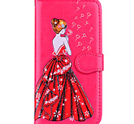 cheap -Case For Apple iPhone 8 iPhone 8 Plus Card Holder Flip Pattern Embossed Sexy Lady Glitter Shine Hard for