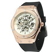 baratos -FORSINING Homens Relógio Casual Relógio de Moda Relógio de Pulso Automático - da corda automáticamente Borracha Banda Casual Legal