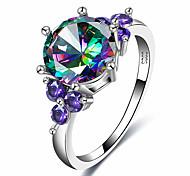 Недорогие -Жен. Массивные кольца Цирконий Формальная На каждый день Cool Мода Elegant Сплав Геометрической формы Бижутерия Назначение Для вечеринок