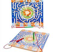 Недорогие -Конструкторы Магнитный лабиринт Игрушки Самолет Праздник Магнитный тип Мультфильм игрушки Новый дизайн Куски