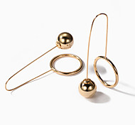 Women's Drop Earrings Fashion European Alloy Circle Geometric Jewelry For Party Daily