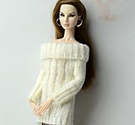 Недорогие -Стиль Топы Топ Для Кукла Барби Белый Верхняя часть Стринги Для Девичий игрушки куклы