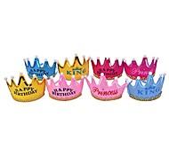 Недорогие -4шт корона вел шляпу шляпы шляпы шляпы принцессы шляпу партии ramdon цвет