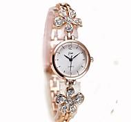 Women's Bracelet Watch Wrist watch Simulated Diamond Watch Chinese Quartz Chronograph Alloy Band Casual Bangle Elegant Christmas Silver