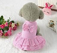 Недорогие -Одежда для собак Хлопок Весна/осень Лето Для вечеринки На каждый день Свадьба Хэллоуин Рождество Синий Розовый Для домашних животных