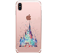 cheap -For iPhone X iPhone 8 Case Cover Transparent Pattern Back Cover Case Cartoon Soft TPU for Apple iPhone X iPhone 8 Plus iPhone 8 iPhone 7