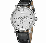 cheap -Jaragar Men's Automatic self-winding Wrist Watch Cool Leather Band Casual / Fashion
