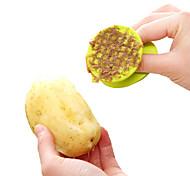 Недорогие -пластиковая чистка картофеля щетка многофункциональный фруктовый овощ чистка кисть кухонный инструмент случайный цвет