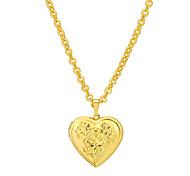 abordables -Mujer Guardapelo Corazón Joyería Destacada Collares con colgantes Chapado en oro 18K Cobre Collares con colgantes , Fiesta Diario