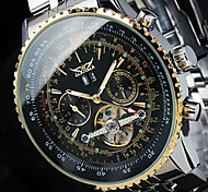 JARAGAR Men's Fashion Wrist watch Mechanical Watch Skeleton Watch Automatic self-winding Calendar date day Stainless Steel Band Luxury Watch