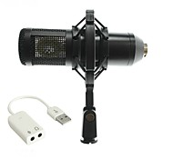 cheap -Characteristic BM800 Wired Microphone Sets Condenser Microphone Handheld Microphone For Computer Microphone