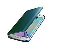 Недорогие -Кейс для Назначение SSamsung Galaxy S8 S7 Зеркальная поверхность Авто Режим сна / Пробуждение Чехол Сплошной цвет Твердый ПК для S8 Plus
