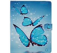 Funda Para Apple iPad Air 2 iPad mini 4 Cartera Soporte de Coche con Soporte Cuerpo Entero Mariposa Dura Cuero Sintético para iPad Pro