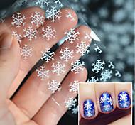 cheap -5pcs Nail Sticker Nail Stamping Template Daily Nail Decals Fashion Christmas High Quality
