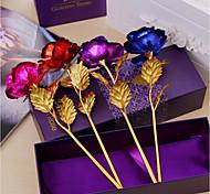 Недорогие -10 24k подарок на день рождения матери, окунутый длинным стеблем розы для свадебной подарочной коробки