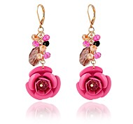 cheap -Women's Rhinestone Crystal Drop Earrings - Classic Fashion Flower For Daily