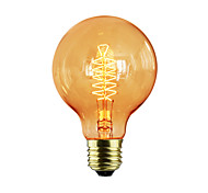 cheap -1pc 60W E27 E26/E27 G80 Warm White K Incandescent Vintage Edison Light Bulb AC 220-240V V