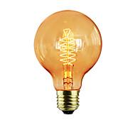 Недорогие -1шт 60W E27 E26/E27 G80 Тёплый белый К Лампа накаливания Vintage Эдисон лампочка AC 220-240V V