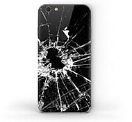 Недорогие -1 ед. Наклейки для Защита от царапин Черный и белый Узор Матовое стекло PVC iPhone 6s/6