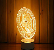 1 Set Of 3D Mood Night Light Hand Feeling Dimmable USB Powered Gift Lamp Ring