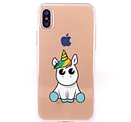 cheap -Case For Apple iPhone X iPhone 8 Transparent Pattern Back Cover Unicorn Cartoon Soft TPU for iPhone X iPhone 8 Plus iPhone 8 iPhone 7