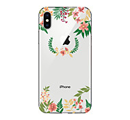 preiswerte -Hülle Für Apple iPhone X iPhone 8 Transparent Muster Rückseite Blume Weich TPU für iPhone X iPhone 8 Plus iPhone 8 iPhone 7 Plus iPhone 7