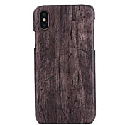 cheap -Case For Apple iPhone X iPhone 8 Plus Pattern Back Cover Wood Grain Hard PU Leather for iPhone X iPhone 8 Plus iPhone 8 iPhone 7 Plus