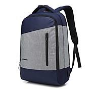 Недорогие -15.6 дюймовый ноутбук сшивание бизнес водонепроницаемый нейлоновая ткань с USB зарядки порта ноутбук сумка рюкзак для macbook / dell / hp