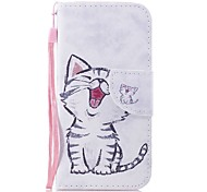 cheap -Case For Wiko Card Holder Wallet with Stand Flip Magnetic Pattern Full Body Cases Cat Hard PU Leather for Wiko Sunny 2 Wiko Lenny 4 Wiko