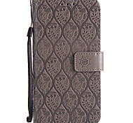 cheap -Case For Samsung Galaxy A5(2017) A3(2017) Card Holder Wallet with Stand Flip Pattern Full Body Cases Solid Color Lace Printing Hard PU