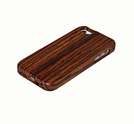 cheap -Case For iPhone 5 Apple iPhone 5 Case Shockproof Back Cover Wood Grain Hard Bamboo for iPhone SE/5s iPhone 5