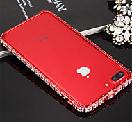 cheap -Case For iPhone 7 Apple iPhone 7 Shockproof Bumper Solid Color Hard Metal for iPhone 8 iPhone 7