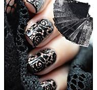 Недорогие -10 Очаровательный Наклейка для ногтей черный увядает Украшение для дизайна ногтей