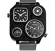 Недорогие -SHI WEI BAO Муж. Кварцевый Армейские часы Модные часы Спортивные часы Китайский Крупный циферблат Панк С двумя часовыми поясами Компас