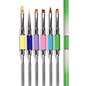 Недорогие -1шт 2-полосная кисть для рисования ногтей для рисования лайнера ombre градиентная гвоздь для ног